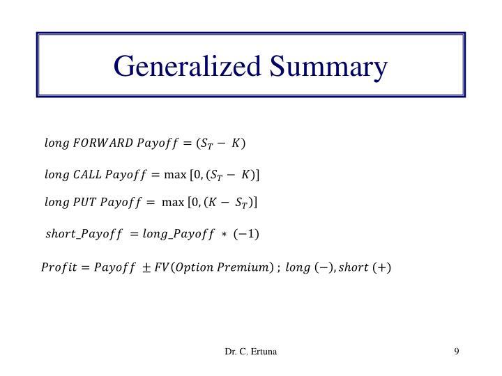 Generalized Summary