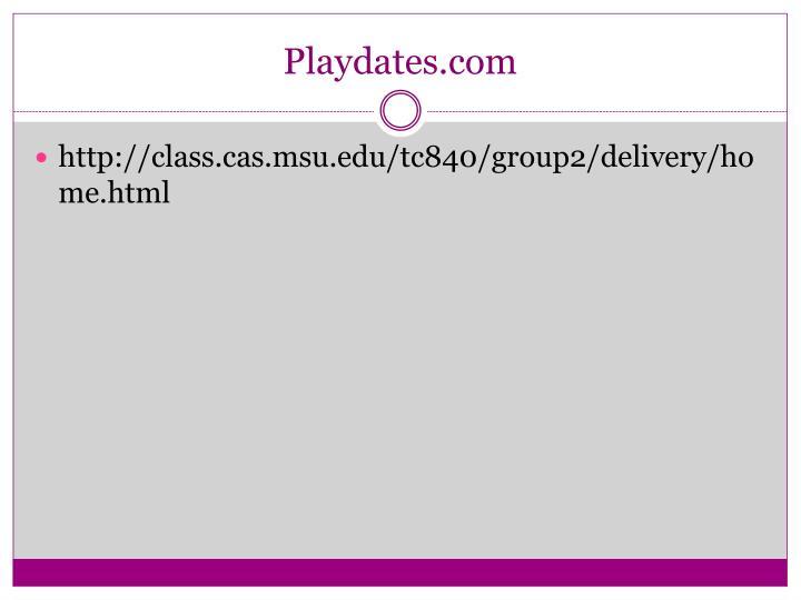 Playdates.com
