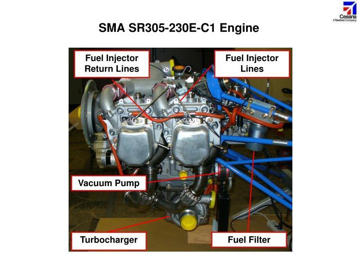 SMA SR305-230E-C1 Engine
