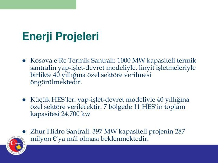 Enerji Projeleri
