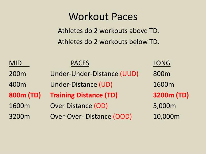 Workout Paces