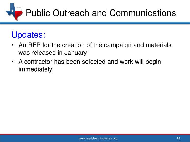 Public Outreach and Communications