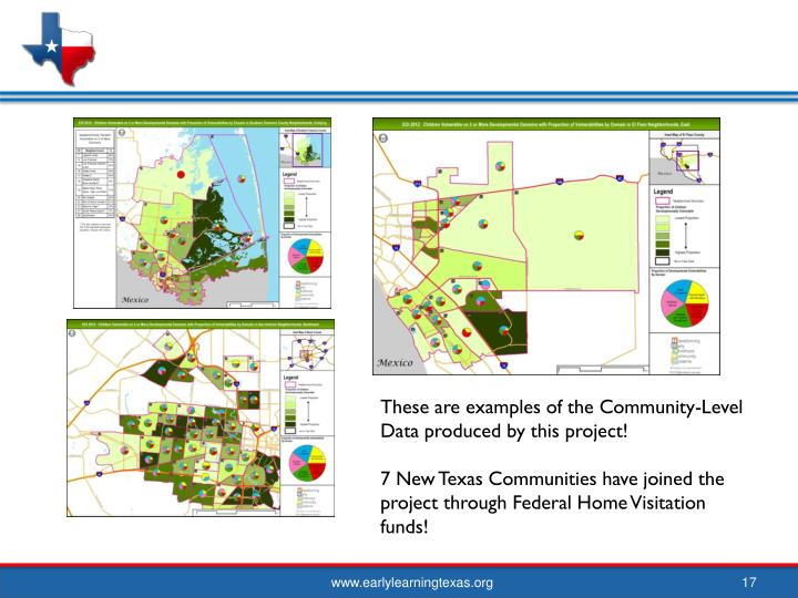 These are examples of the Community-Level Data produced by this project!