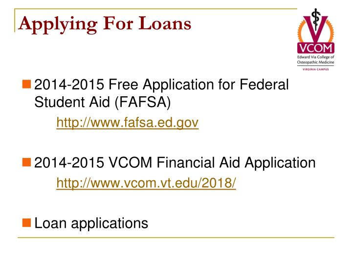 Applying For Loans
