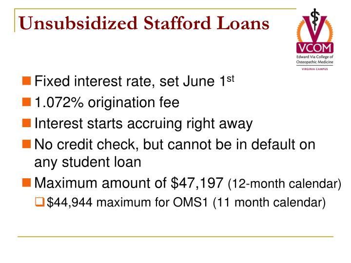 Unsubsidized Stafford Loans
