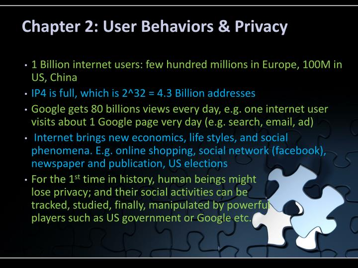 Chapter 2: User Behaviors & Privacy