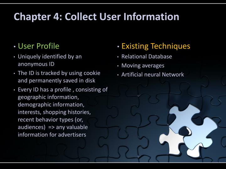 Chapter 4: Collect User Information