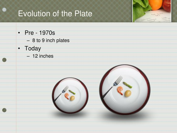 Evolution of the Plate