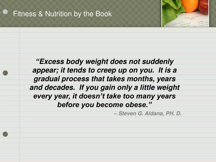 Fitness & Nutrition by the Book