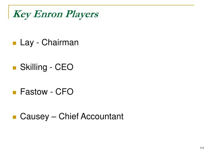 Key Enron Players