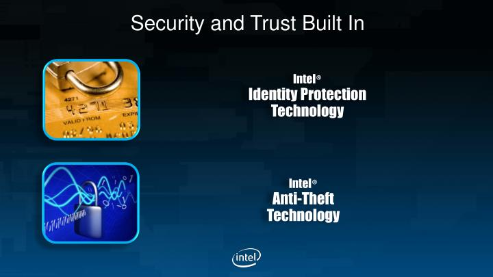 Security and Trust Built In