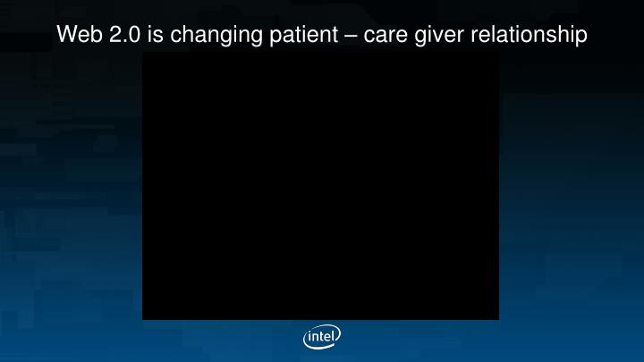 Web 2 0 is changing patient care giver relationship