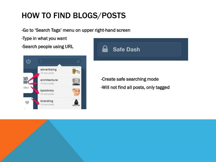 How to find blogs/posts