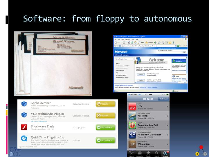 Software: from floppy to autonomous