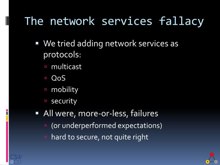 The network services fallacy
