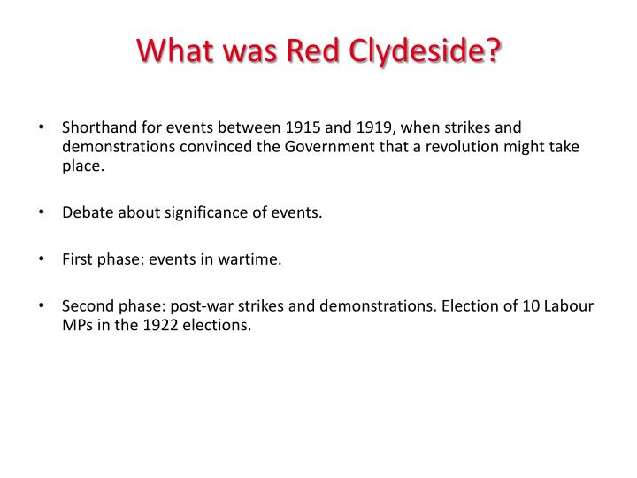 What was Red Clydeside?