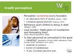 credit perception