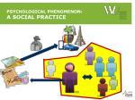 psychological phenomenon a social practice