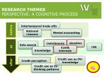 research themes perspective a cognitive process