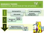 research themes perspective reflection of the situation