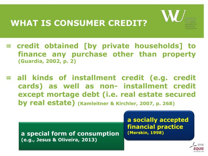 What is Consumer Credit?