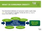 what is consumer credit1