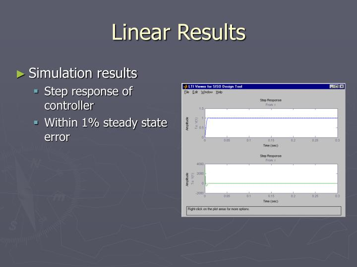 Linear Results