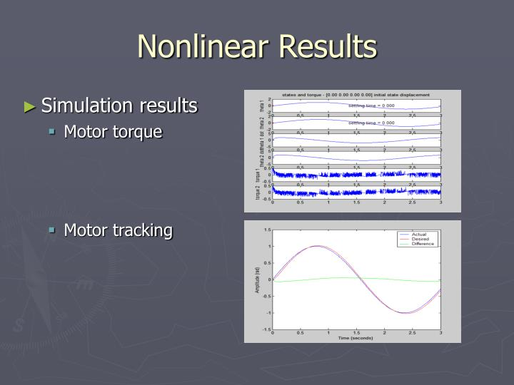 Nonlinear Results