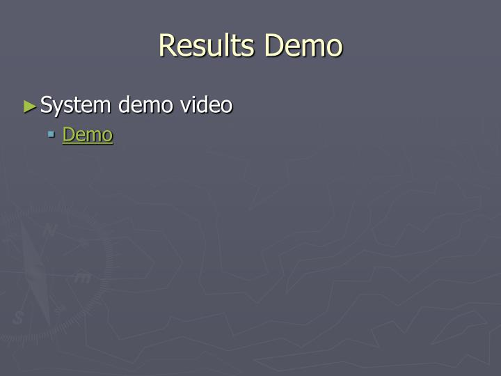 Results Demo