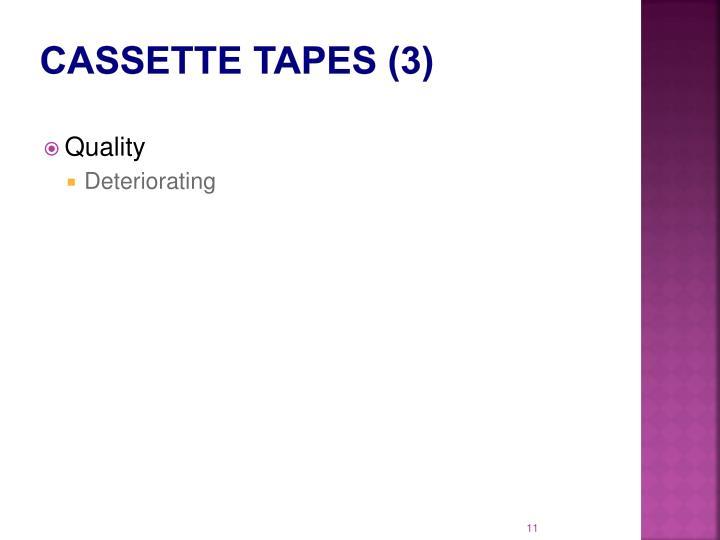 Cassette Tapes (3)