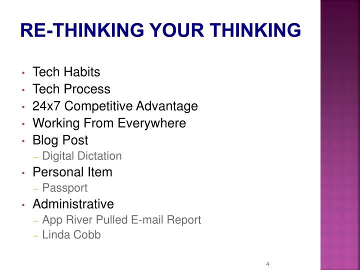 Re-Thinking Your Thinking