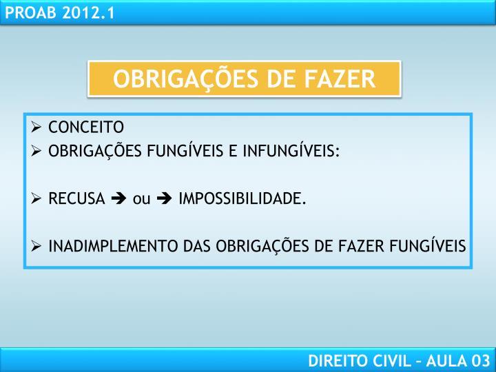 OBRIGAÇÕES DE FAZER