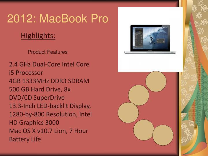 2012: MacBook Pro