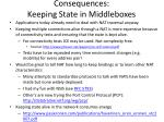 consequences keeping state in middleboxes