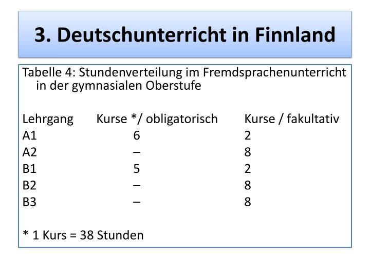 3. Deutschunterricht in Finnland