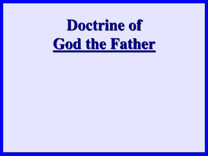 Doctrine of