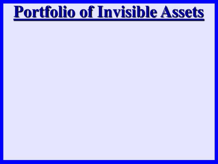 Portfolio of Invisible Assets
