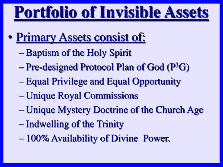 Primary Assets consist of: