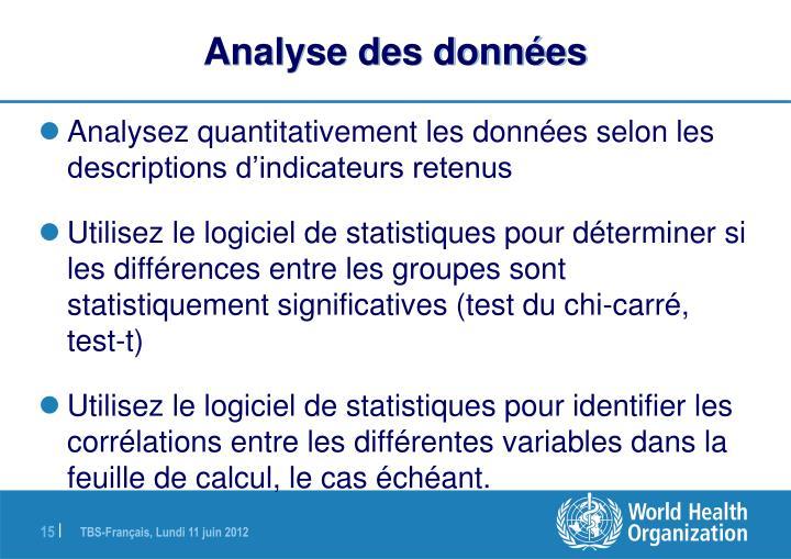 Analyse des données