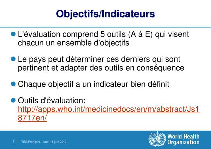 Objectifs/Indicateurs