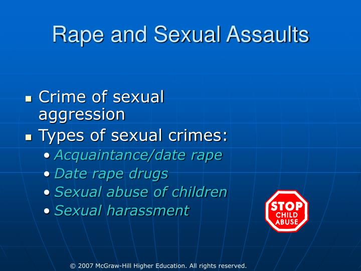 Rape and Sexual Assaults