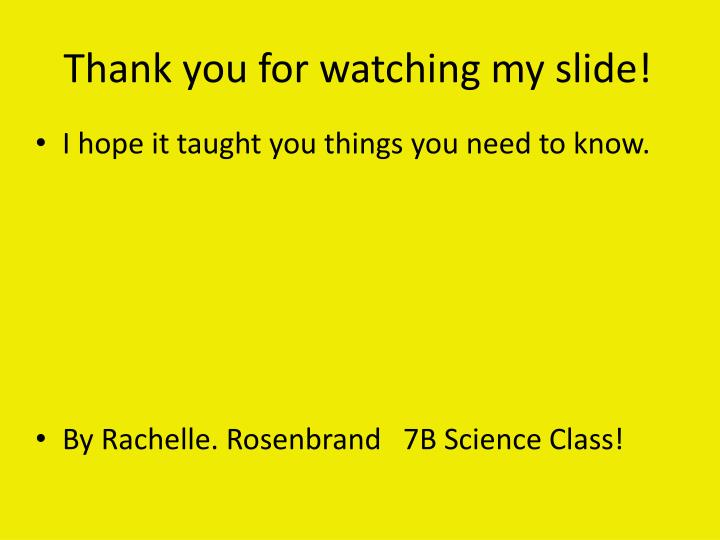 Thank you for watching my slide!