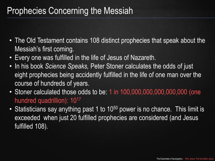 Prophecies Concerning the Messiah