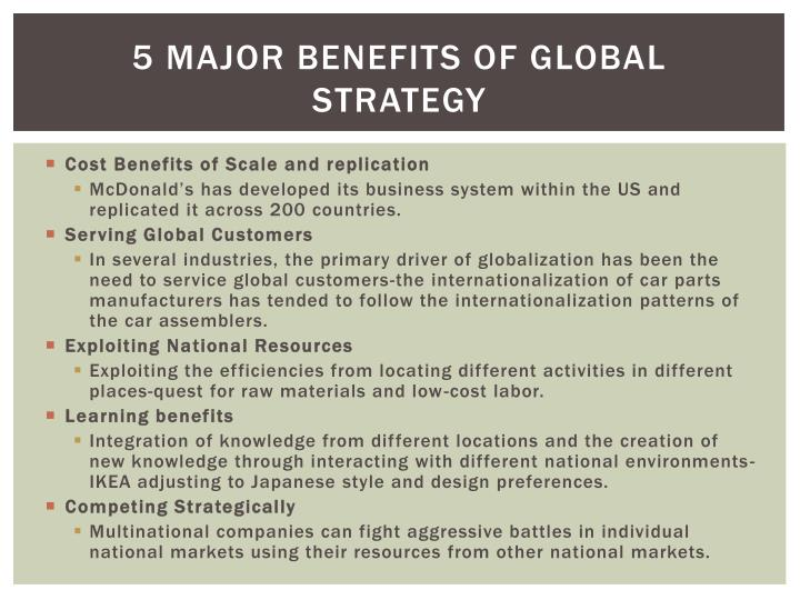 5 Major Benefits of Global Strategy