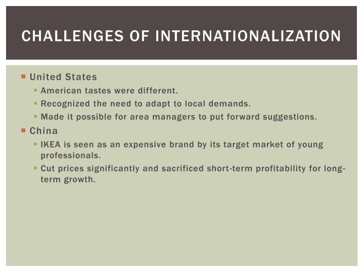 Challenges of Internationalization