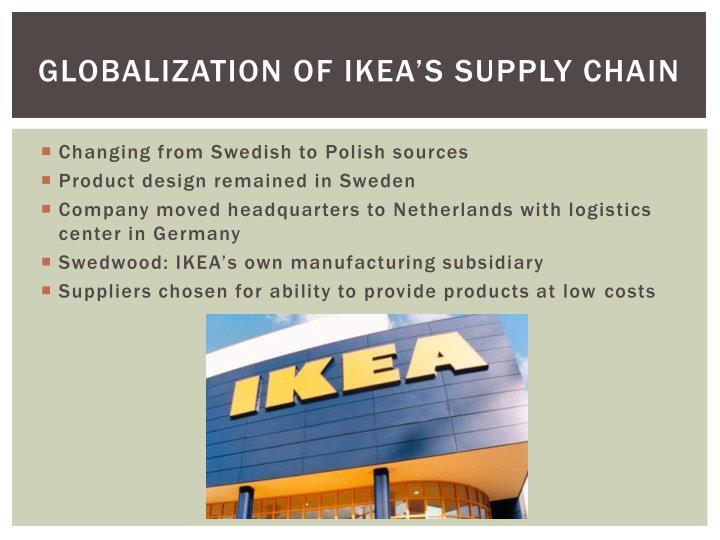 Globalization of IKEA's Supply Chain