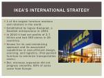 ikea s international strategy