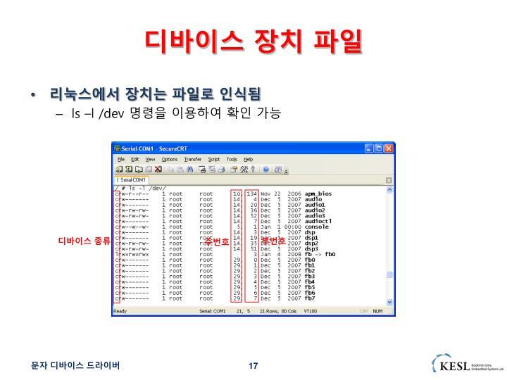 디바이스 장치 파일
