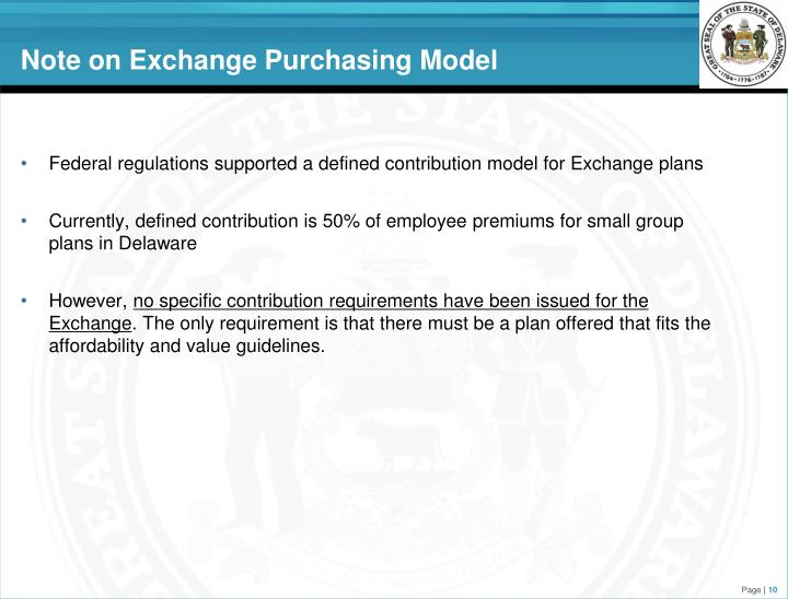 Note on Exchange Purchasing Model