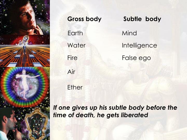 Gross bodySubtle  body